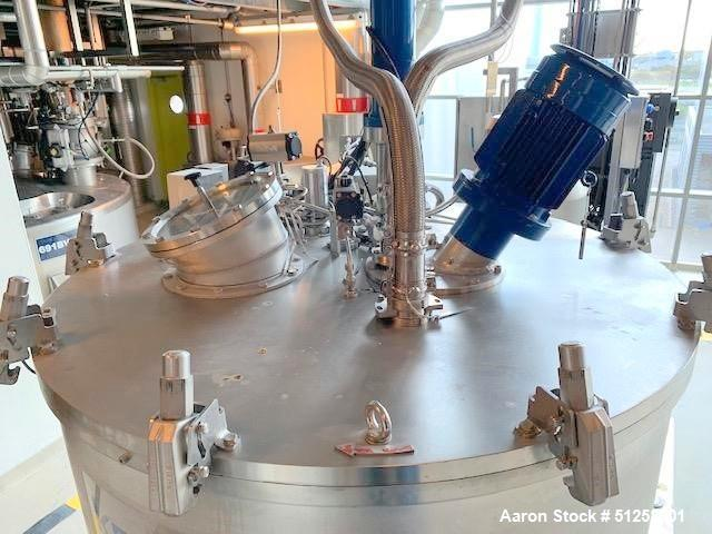 Used-Andritz/Kmpt Process Technology (Krauss Maffei) VZ 1250/3.2 vertical basket centrifuge, AISI 316 L (1.4404) Stainless S...