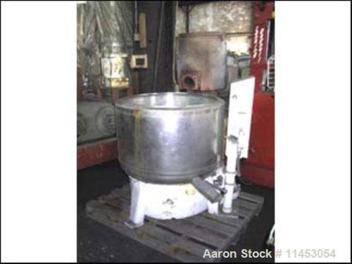 """Used-Bock 30"""" x 16"""" perforated basket centrifuge, stainless steel construction on product contact areas, top load, top unloa..."""