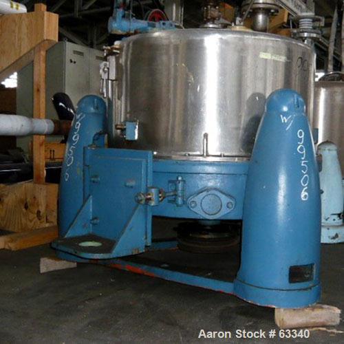 Used- Stainless Steel Heine/Ellerwerk Perforated Basket Centrifuge
