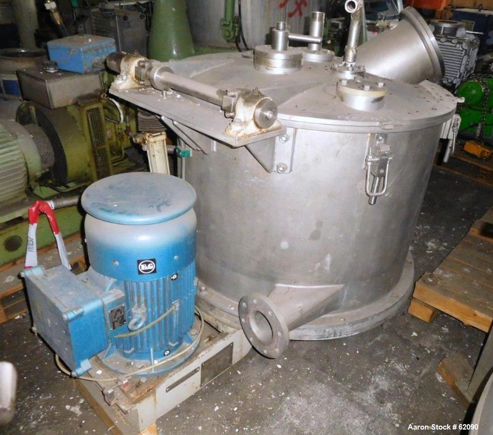 Used- Stainless Steel Ellerwerk Vertical Basket Centrifuge, Type 734