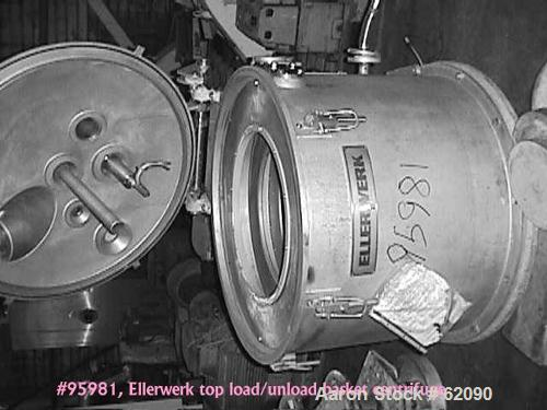 Used- Stainless Steel Ellerwerk Vertical Basket Centrifuge, Type 734