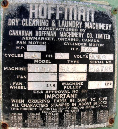 "Used- Hoffman Perforated Basket Centrifuge, Model 7020, Type BAA, Monel Construction. 20"" diameter x 10"" deep basket. Includ..."