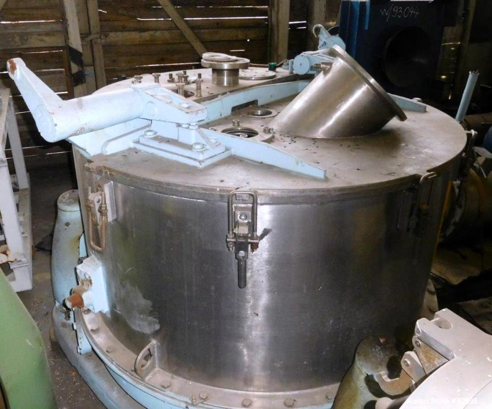 Used- Kraus Maffei/Ellerwerk Vertical Basket Centrifuge, Type ZE640- PZ-IO-1200