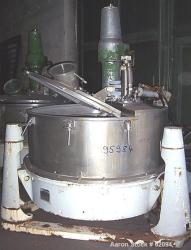 Used- Stainless Steel Alfa Laval Vertical Basket Centrifuge, Type PAZ12506