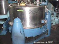 Used- Stainless Steel Kraus Maffei/Ellerwerk Vertical Basket Centrifuge, Type ZE640- PZ-IO-1200