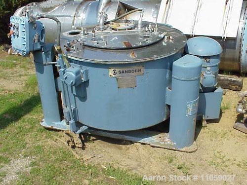 Used- Stainless Steel Sanborn Basket/Batch Type Centrifuge, Model 40