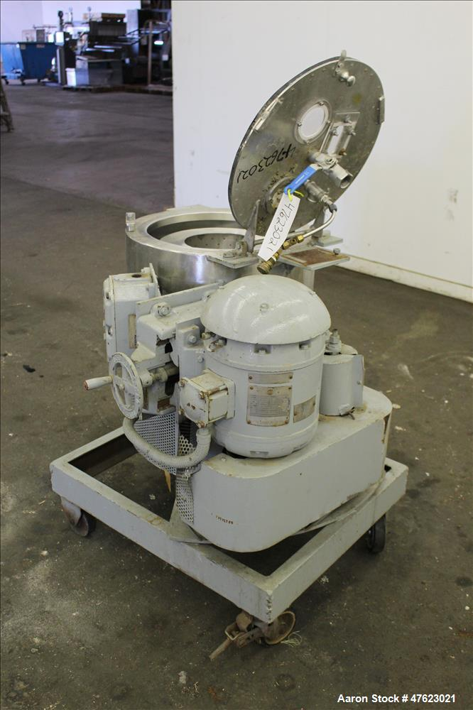 "Used- Fletcher/Sharples 14"" x 6"" Fletcher Perforated Basket Centrifuge, Size 14."