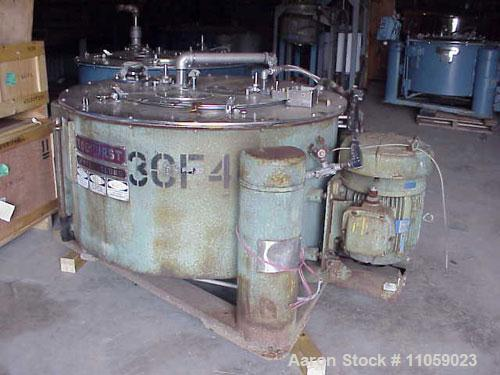 Used- Stainless Steel Tolhurst Basket/Batch Center-Slung Centrifuge