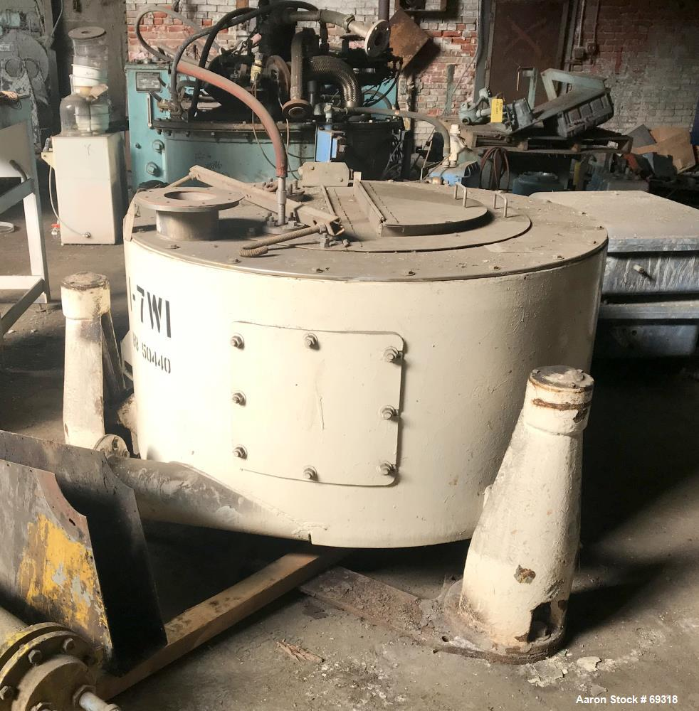 Used- Stainless Steel ATM Perforated Basket Centrifuge