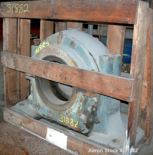 USED: Parts for a Bird 40 x 60 decanter centrifuge consisting of a pillow block housing, model LB10-50A.