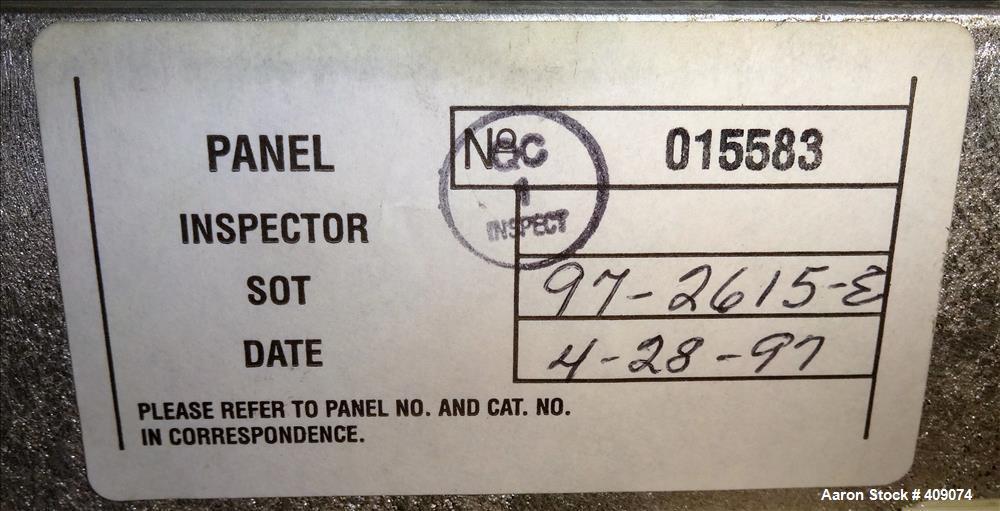 Katema/Tolhurst Basket Centrifuge Explosion Proof Control Panel