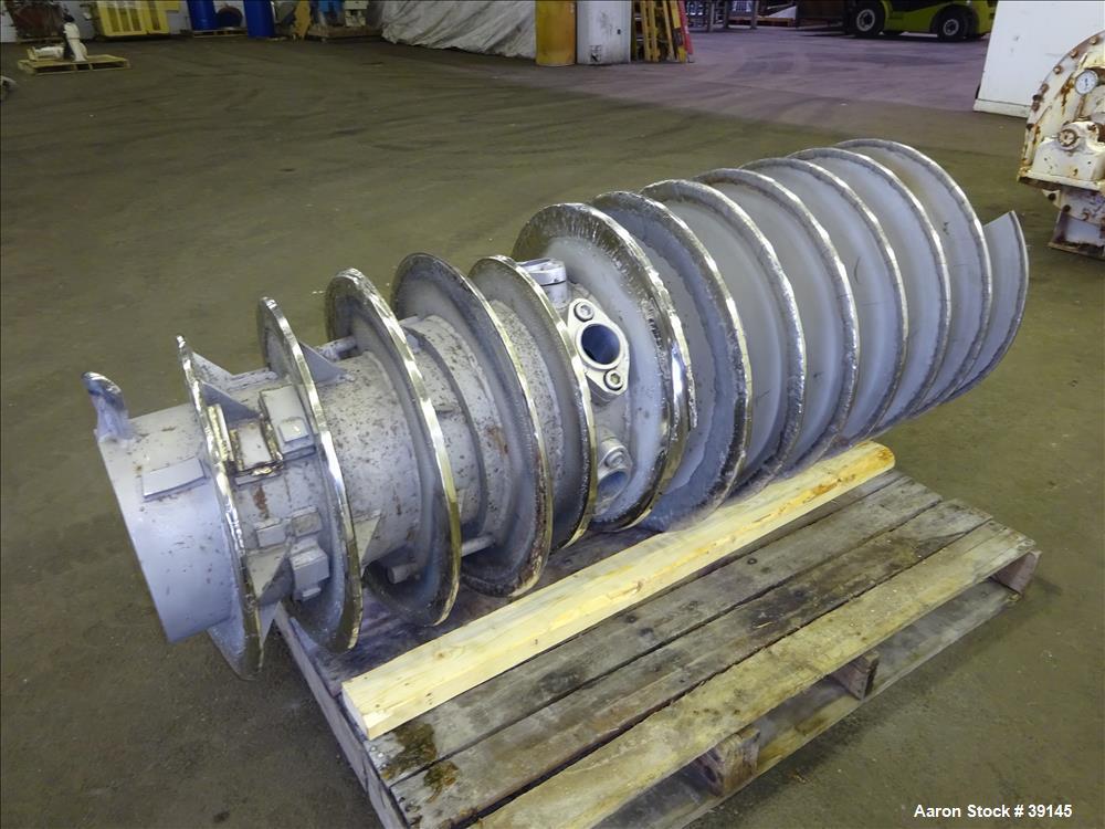 Used- Stainless Steel Sharples P-5000 Decanter Centrifuge Conveyor