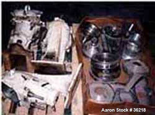 Used- Sharples T-1P Laboratory Centrifuge Parts Consisting of: Pressure Tite Frame, Air Turbine, and Separator Design with Cooling/Heating Coils