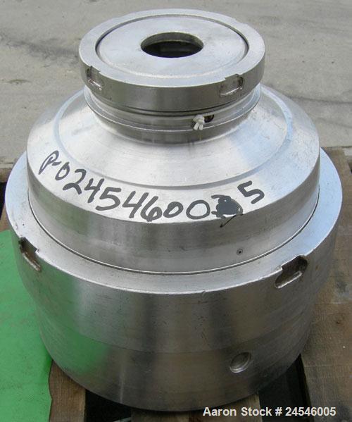 Used- Westfalia BKA-6 Solid Bowl Centrifuge Bowl Assembly, 316 Stainless Steel