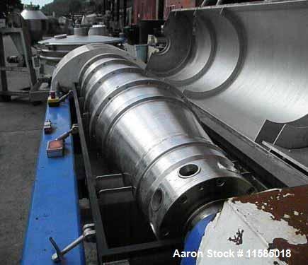 Used- Stainless Steel Alfa Laval Aldec Solid Bowl Decanter Centrifuge