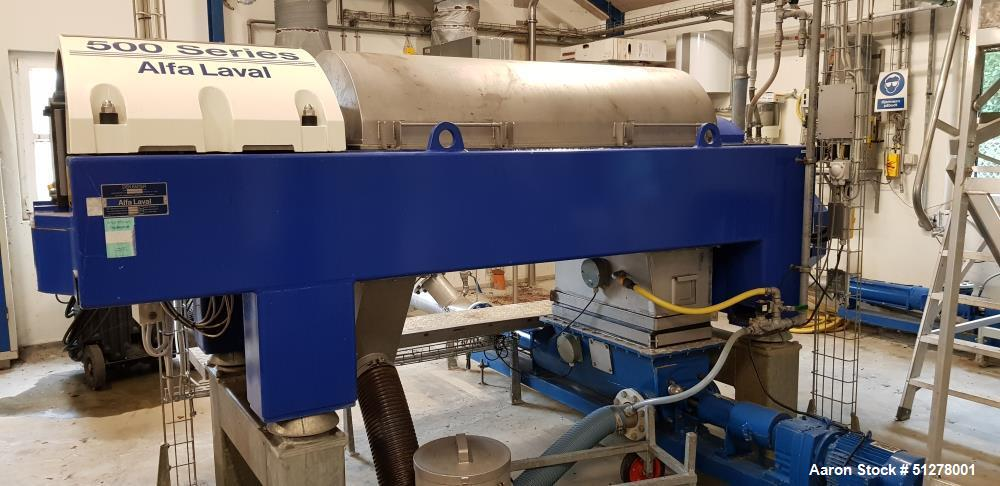 Used-Alfa Laval Solid Bowl Decanter Centrifuge