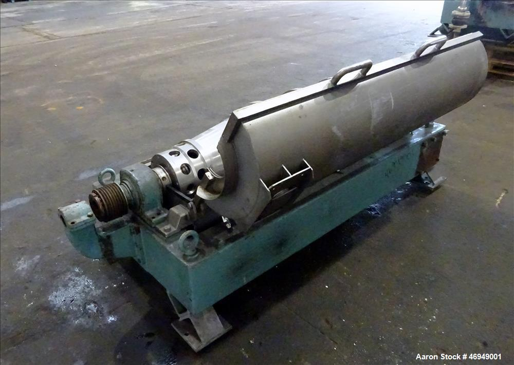 Used- Alfa Laval AVNX-418B-31 Solid Bowl Decanter Centrifuge.