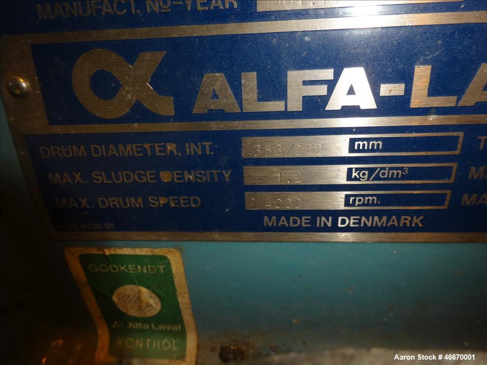 Used- Alfa Laval AVNX-714B-31G Solid Bowl Decanter Centrifuge.