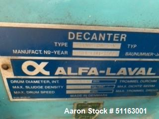 Used- Alfa Laval Solid Bowl Decanter Centrifuge