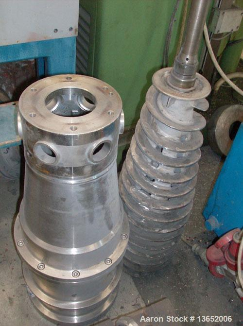 Used-Alfa Laval NX-309B-31 Solid Bowl Decanter Centrifuge. 316 Stainless steel construction on product contact parts. Max bo...
