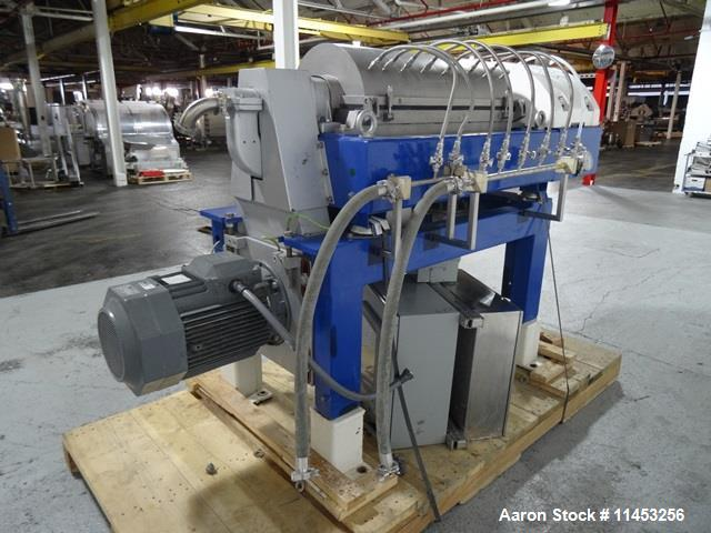 Used- Stainless Steel Alfa Laval Solid Bowl Decanter Centrifuge, NX-414B-31G