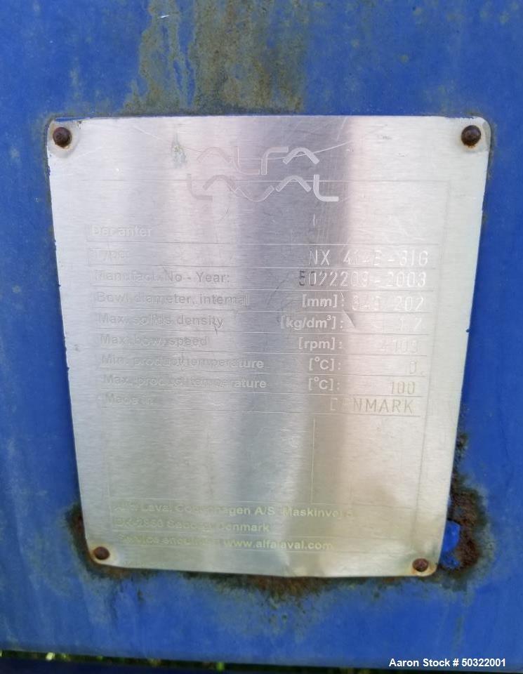Used- Alfa Laval NX-414B-31G Solid Bowl Decanter Centrifuge