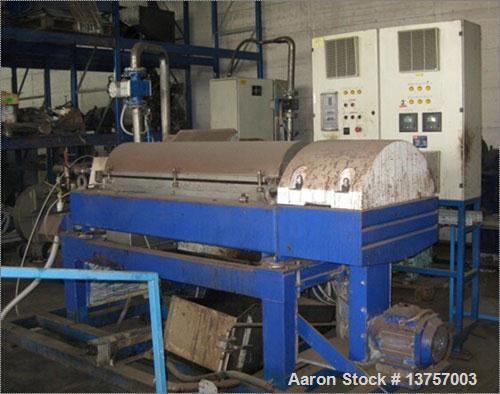 Used-Alfa Laval CHNX-418-31G Solid Bowl Decanter Centrifuge. Max bowl speed 4000 rpm, single lead conveyor with hardfacing, ...
