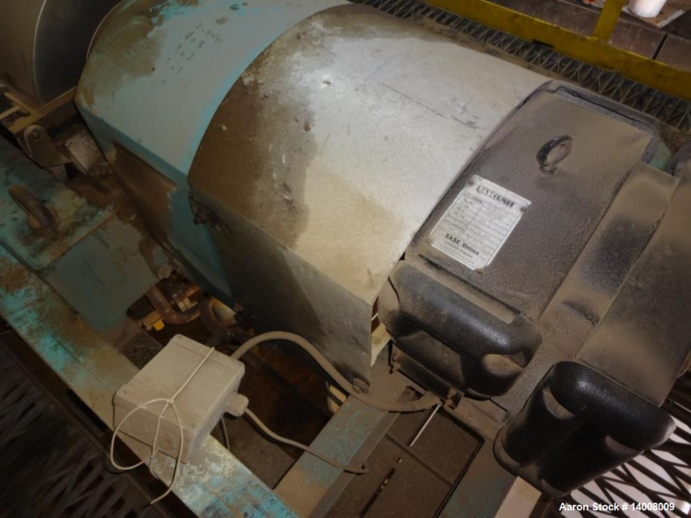 """Used- Alfa Laval NX-420 Solid Bowl Decanter Centrifuge. 316 Stainless steel on product contact parts. 3-1/2"""" pitch. Maximum ..."""