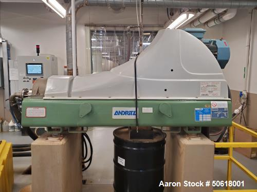 Used- Andritz D2LP20C Solid Bowl Decanter Centrifuge