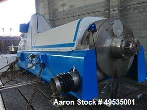 Used- Andritz D5LC30CHP Food Grade Solid Bowl Decanter Centrifuge.