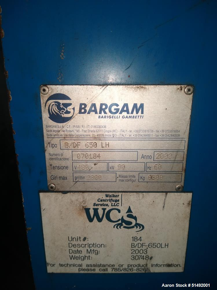 Used- Bargam 650 LH Centrifuge