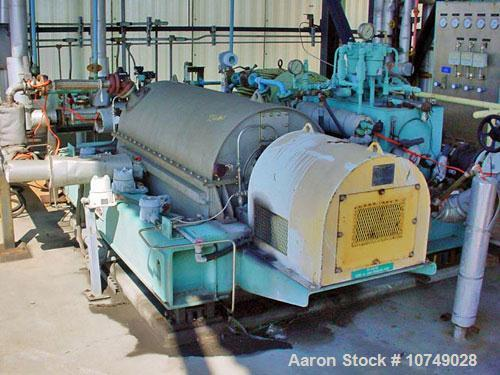 "Used-Bird 3600, 24"" x 60"", solid bowl decanter centrifuge. 316 stainless steel construction, right hand design (gearbox on l..."