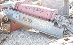 "USED Bird HB-3700 (24"" x 72"") solid bowl decanter centrifuge, CS.Max bowl spd 1400 rpm, 8 deg contour bowl, 9"" double lead c..."