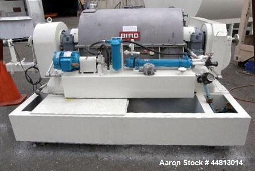 """Used- Bird 40"""" x 60"""" Solid Bowl Decanter Centrifuge"""