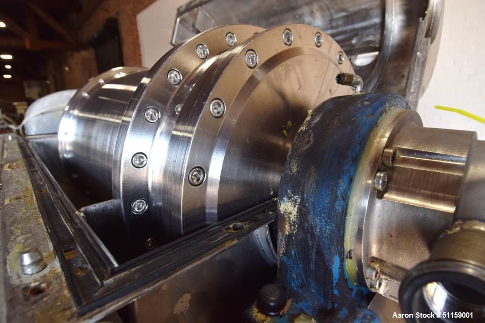 "Used- Flottweg Z4D-3/441 ""Semi-Sanitary"" Tricanter Solid Bowl Decanter Centrifug"