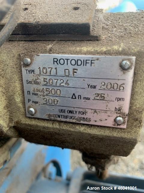Used- Flottweg Z4D/4-454 Solid Bowl Decanter Centrifuge