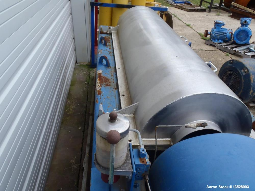 Used- Flottweg Z4D-4 SortiCanter Centrifuge. 316 stainless steel construction (product contact areas), Maximum bowl speed 35...