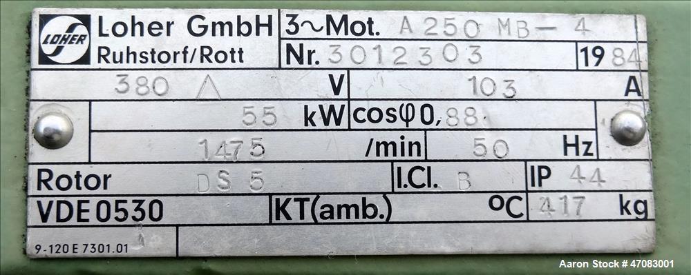 Used- Flottweg Z5L Solid Bowl Horizontal Decanter Centrifuge.