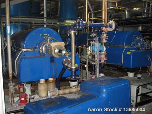 Used-Flottweg Z-6E-4/301g Solid Bowl Decanter Centrifuge. Hastelloy construction (product contact areas). Bowl speed 2500 rp...