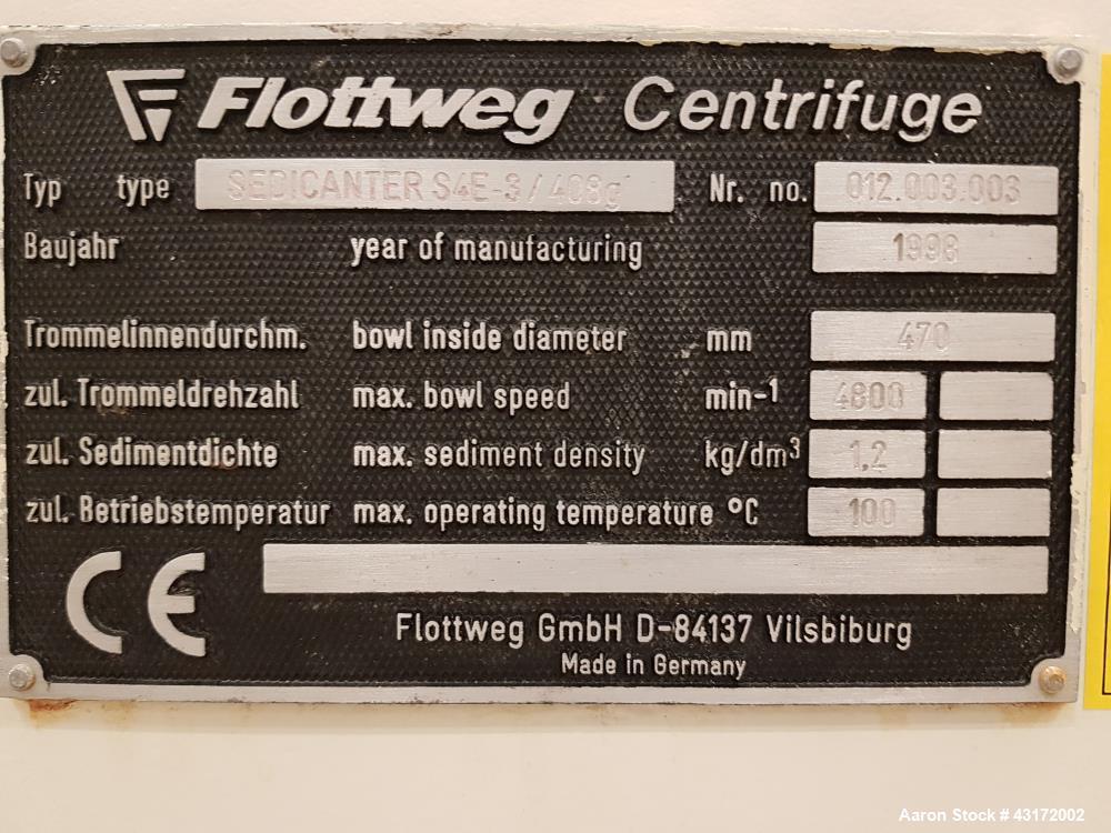 Used- Flottweg S4E-3-4 Sedicanter.
