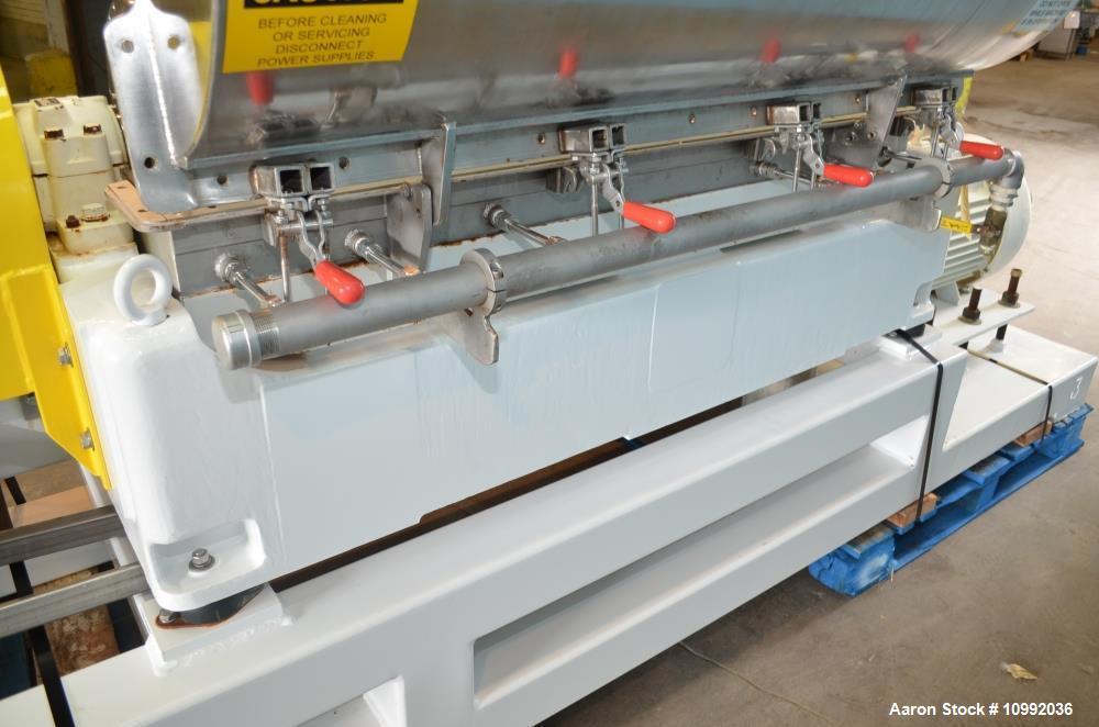 Used- Kubco Model KHV3400 Stainless Steel Decanter Centrifuge