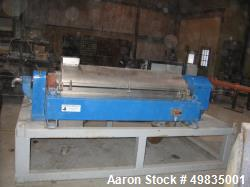 "Used- Alfa Laval Centrifuge, Model NX418. 14"" diameter rotor x 60"" long. 3250 Max. RPM. 3 phase, 40 HP motor. Fixed Sunwheel..."