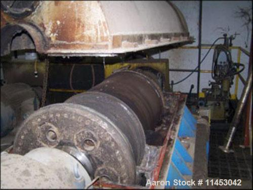 Used-Sharples P-5000 Super-D-Canter centrifuge, 316 stainless steel construction on product contact areas. Max bowl speed 30...