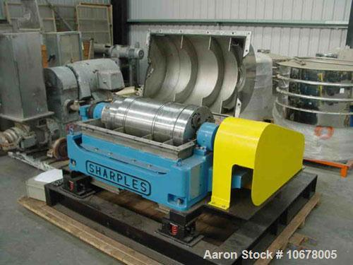 Used- Stainless Steel Sharples Super-D-Canter Centrifuge, P-3000