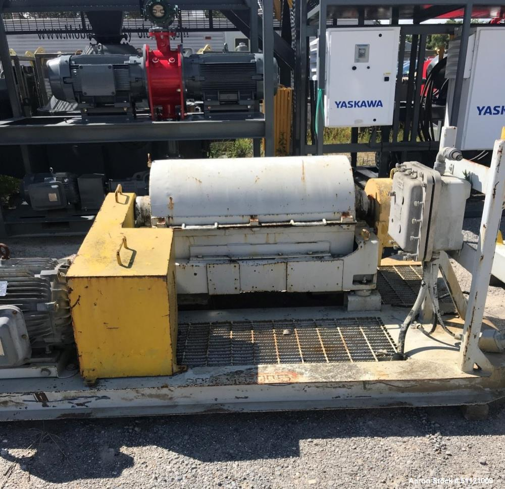 Used-Sharples P-3000 Super-D-Canter Centrifuge; 316 Stainless Steel Construction; 16 x36 Bowl; 4000 RPM Maximum Bowl Speed; ...