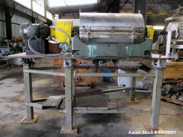 Used: Sharples P-3000 Super-D-Canter Centrifuge