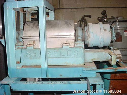 Used-Sharples P-660 Super-D-Canter Centrifuge. 316 stainless steel construction (product contact areas), max bowl speed 6000...