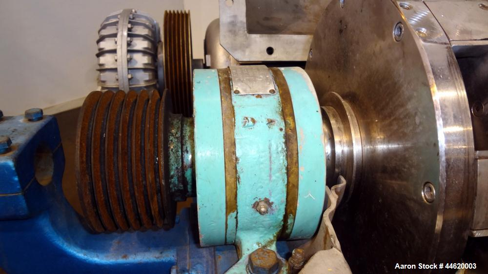 Used- Stainless Steel Sharples Super-D-Canter Centrifuge, P-3400