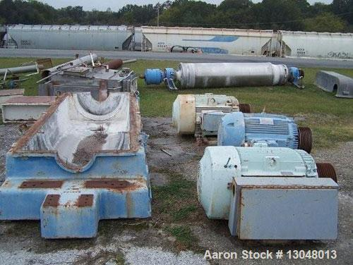 Used-Sharples PC-81,000 Super-D-Canter Centrifuge. Stainless steel construction (product contact areas), max bowl speed 2500...