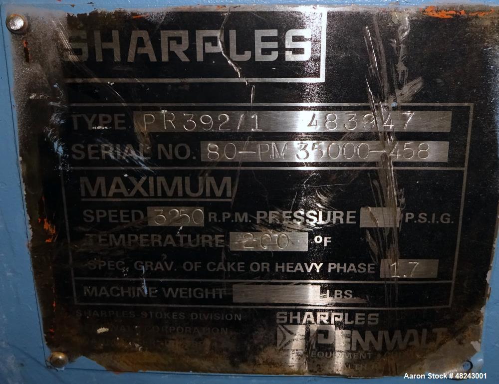 Used- Sharples PM-35000 Super-D-Canter Centrifuge